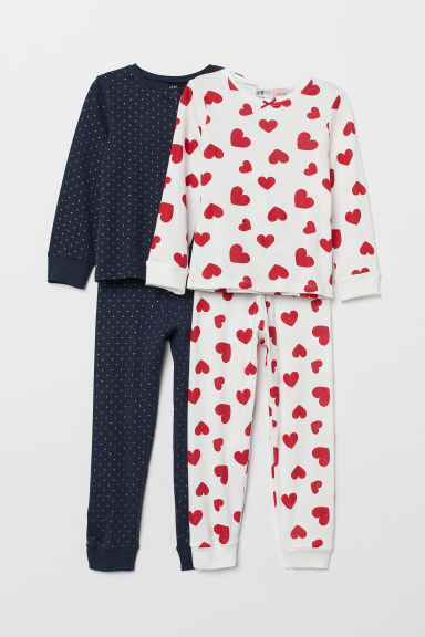 2-pack jersey pyjamas - Red/White - Kids | H&M