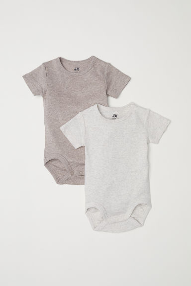 2-pack bodysuits - Light beige -  | H&M CN