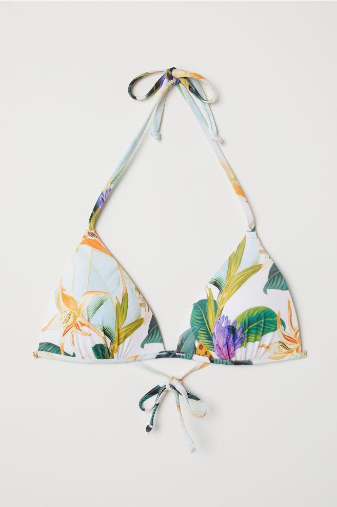 05b62b7ac58a Padded triangle bikini top - White Floral - Ladies
