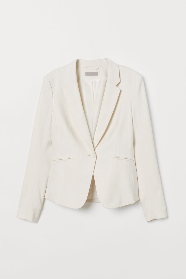 Fitted jacket - Cream - Ladies | H&M IE