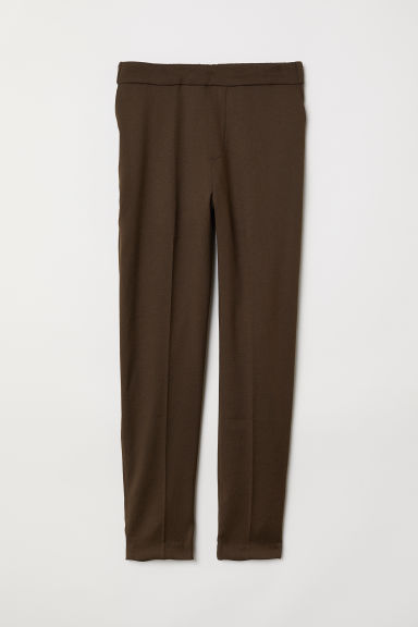 Pull-on trousers - Dark khaki green - Ladies | H&M