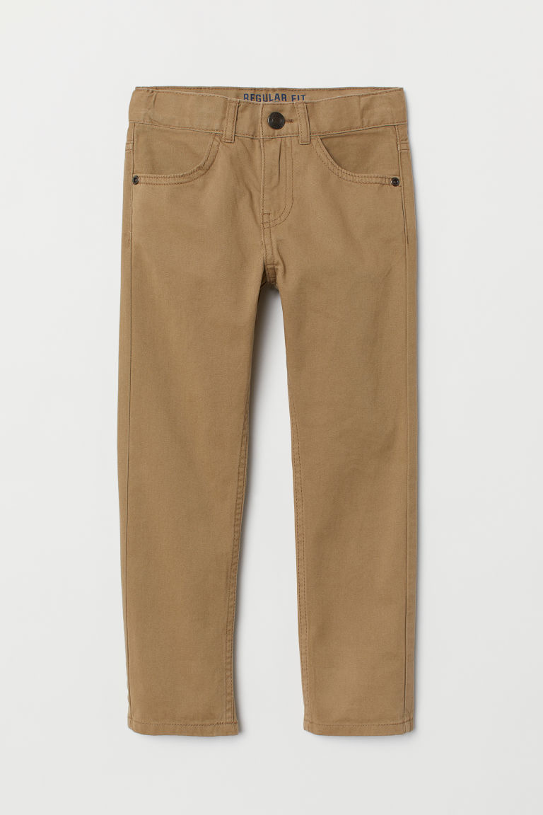 Twill trousers Regular Fit - Beige - Kids | H&M CN