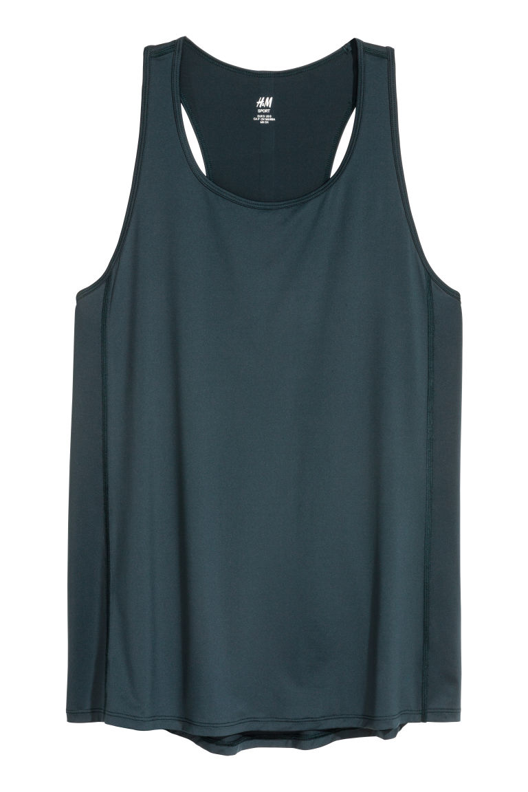 Sports vest top - Petrol - Ladies | H&M CN