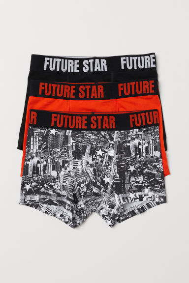 3-pack boxer shorts - Orange/Black - Kids | H&M