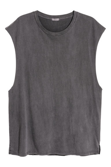 Vest top - Dark grey - Men | H&M CN
