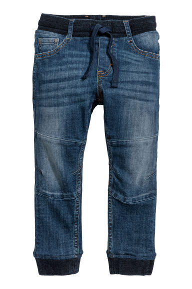 Super Soft denim joggers - Denim blue -  | H&M