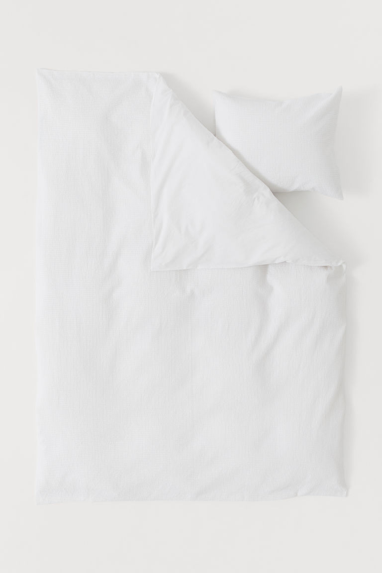 Set de funda de duvet gofrado - Blanco - Home All | H&M MX