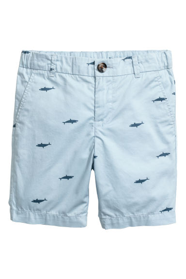 Short chino - Bleu clair/requins -  | H&M BE