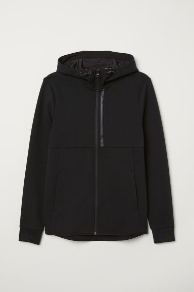 Hooded sports top - Black - Men | H&M IE
