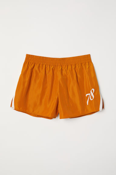 Short shorts with side stripes - Ochre - Ladies | H&M CN
