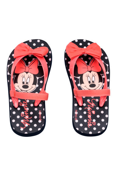 Flip flops - Dark blue/Minnie Mouse -  | H&M CN