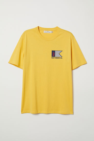 Camiseta con estampado - Amarillo/Key West - HOMBRE | H&M ES