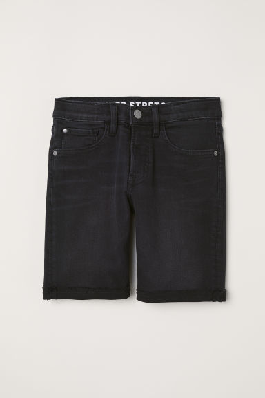 Vaquero corto Slim Fit - Negro/Washed out - NIÑOS | H&M ES