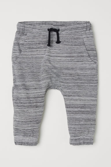 Jersey joggers - Light grey/Striped - Kids | H&M CN