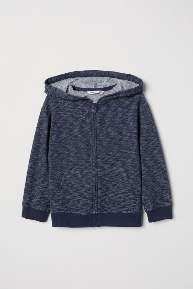Hooded jacket - Blue marl - Kids | H&M