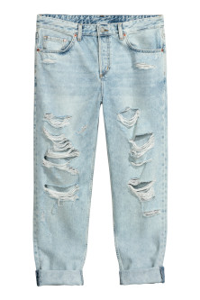 Boyfriend Low Ripped Jeans