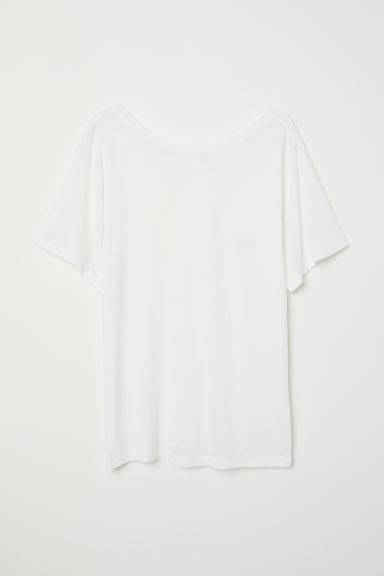 Top with a low-cut back - White -  | H&M