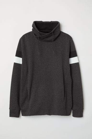 Funnel-collar sweatshirt - Dark grey marl - Men | H&M CN