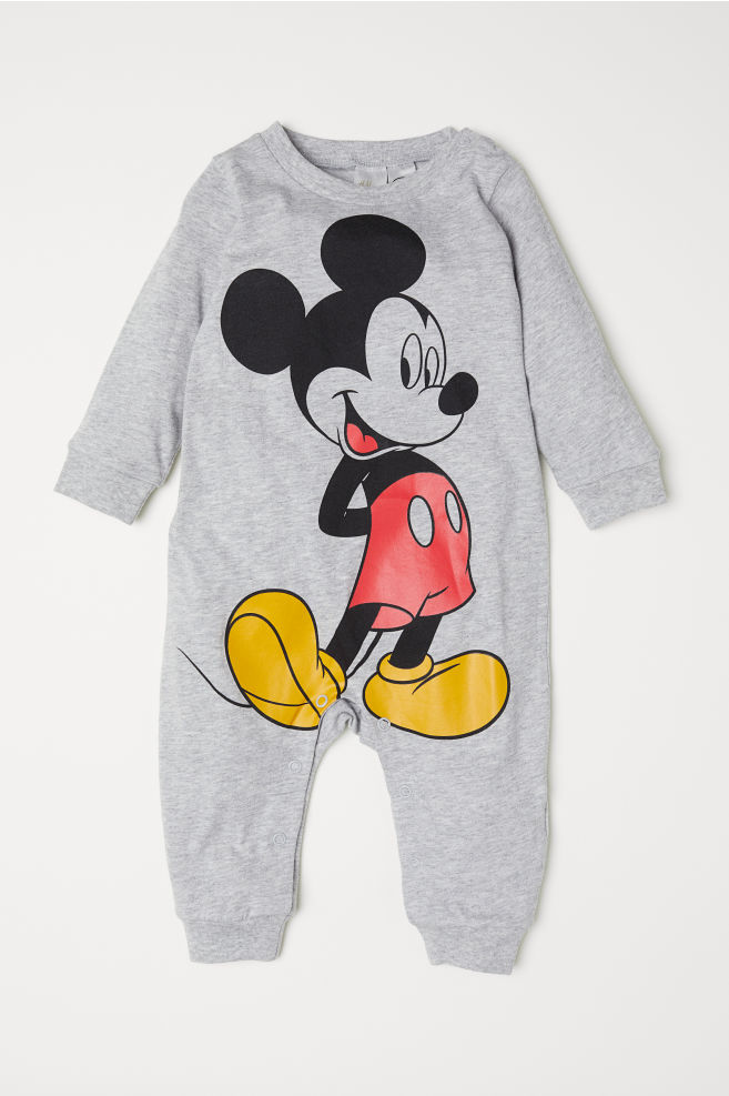d83dcf8e9 Pijama de algodón - Gris jaspeado Mickey Mouse - NIÑOS