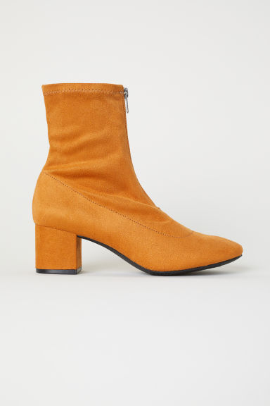 Sock boots - Mustard yellow - Ladies | H&M CN