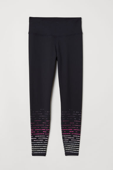 H&M+ Sports tights - Black/Patterned - Ladies | H&M CN