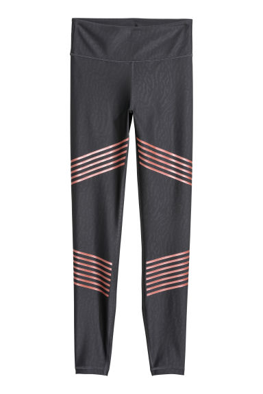 Sports tights Shape Waist - Dark grey/Patterned -  | H&M GB
