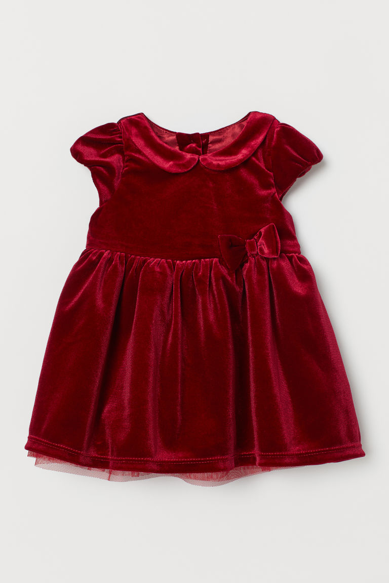 Velour Dress - Red - Kids | H&M CA