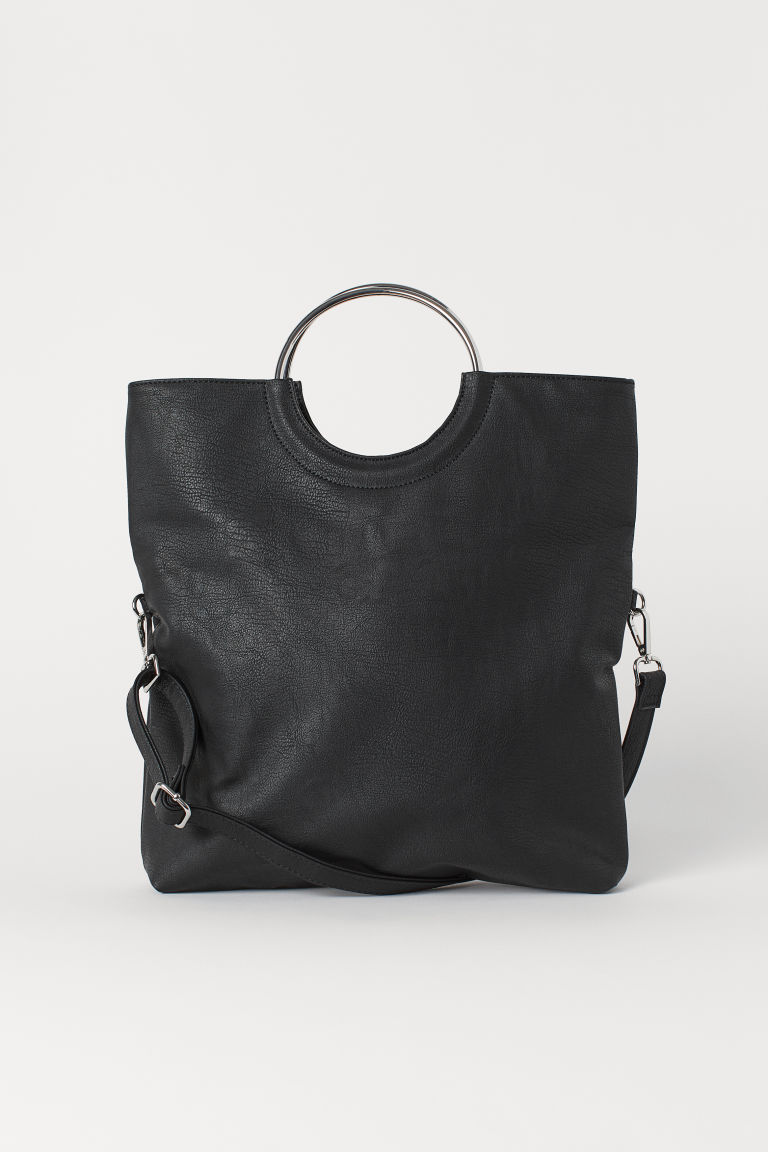 Shopper with a shoulder strap - Black -  | H&M CN