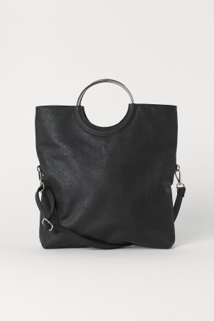 Shopper with a shoulder strap