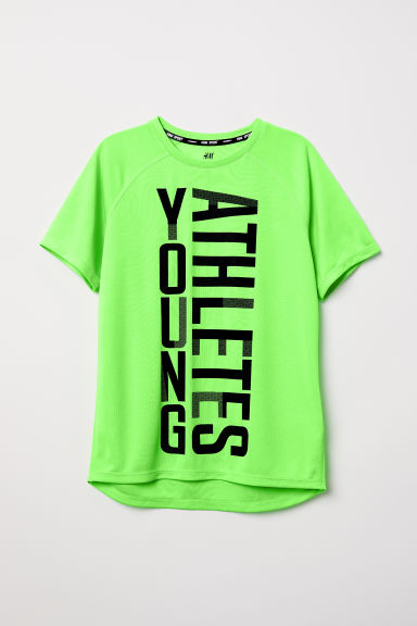 Sports top - Neon green/Young Athletes - Kids | H&M
