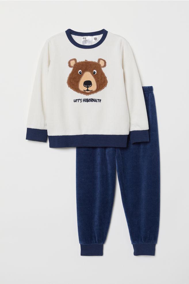 Пижама из велюра - Белый Медведь - Дети  27b573e18003e