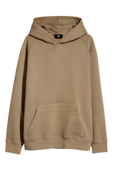 Hooded top Loose fit - Dark beige - Men | H&M