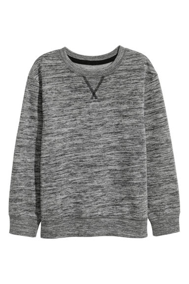 Sweatshirt - Dark grey marl - Kids | H&M