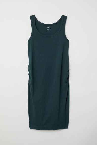 MAMA Sleeveless jersey dress - Dark turquoise marl - Ladies | H&M CN