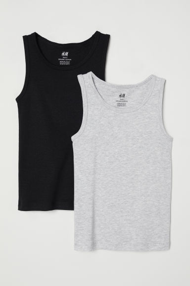 2-pack vest tops - Black - Kids | H&M CN