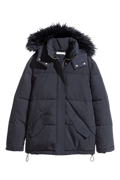 Padded jacket - Dark blue -  | H&M GB