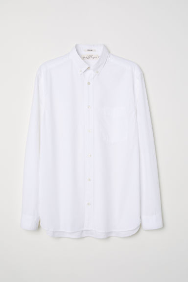 Poplin shirt Regular fit - White - Men | H&M