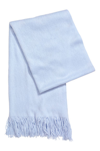 Knitted scarf - Light blue - Ladies | H&M IE