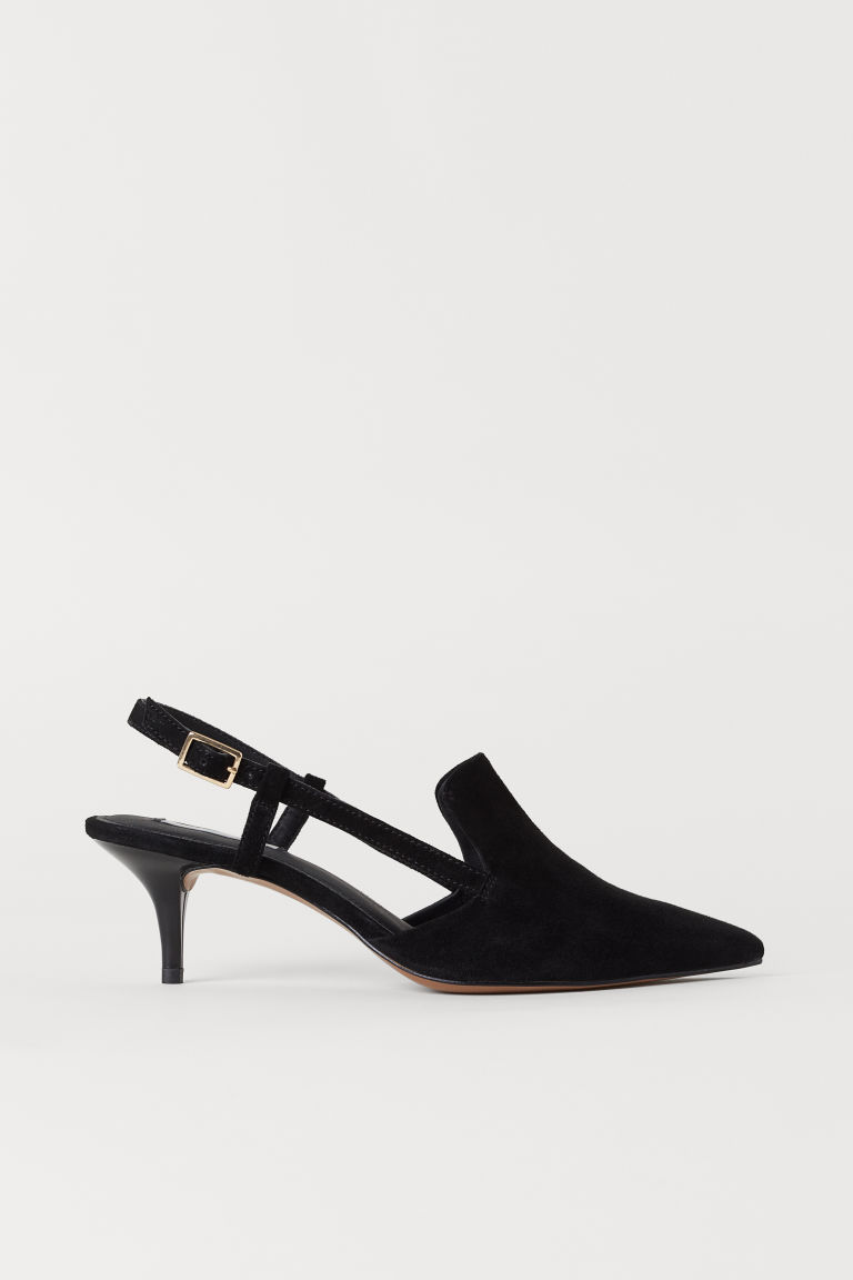 Pointed court shoes - Black - Ladies | H&M
