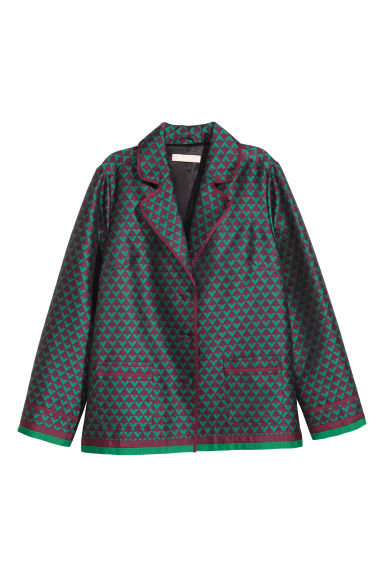 Jacquard-weave jacket - Dark purple/Green - Ladies | H&M