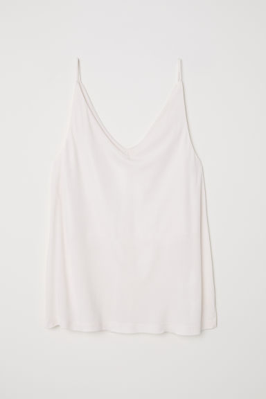 V-neck top - Cream - Ladies | H&M CN