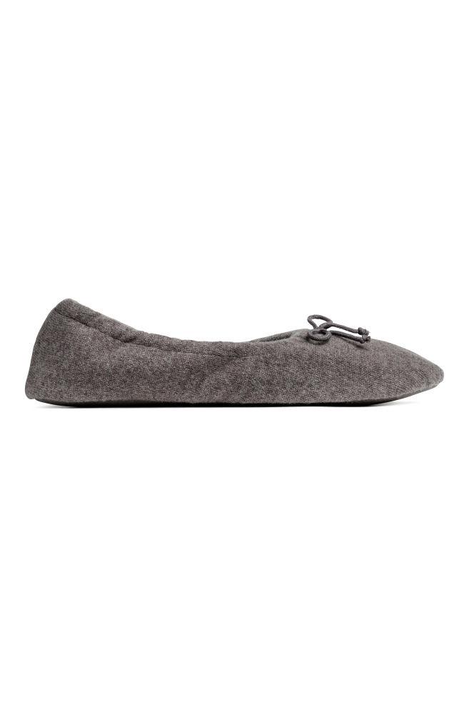 d26c25ccfbbd Cashmere slippers - Dark grey - Ladies