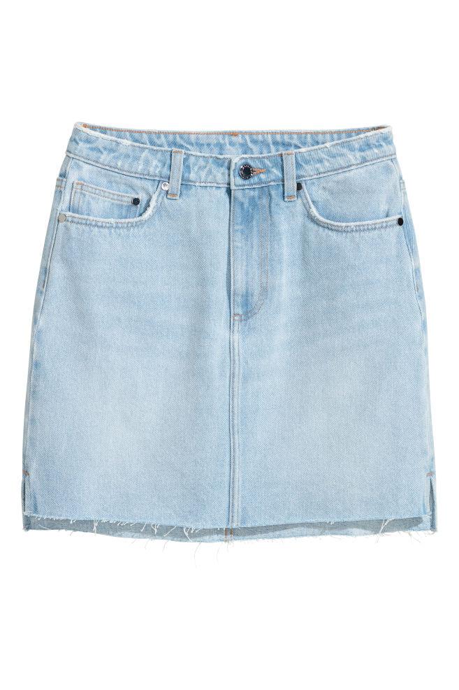 f772bd2242 Denim Skirt - Light denim blue - Ladies   H&M ...