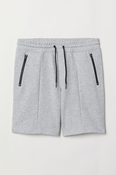 Jersey sports shorts - Light grey marl - Men | H&M CN