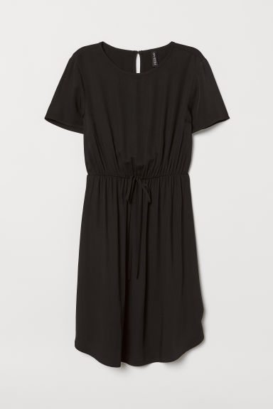 Short viscose dress - Black - Ladies | H&M