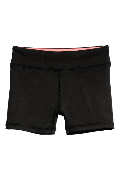 Short sports tights - Black - Kids | H&M CN