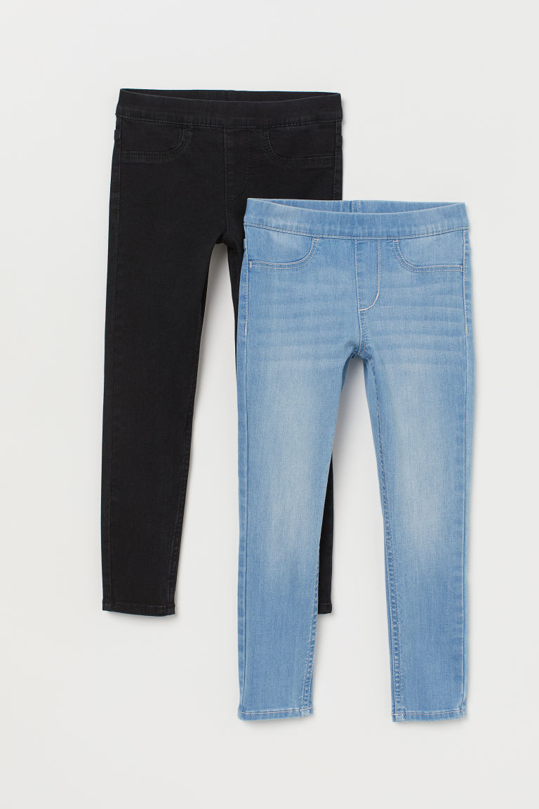 Leggings en denim, lot de 2 - Noir/bleu clair -  | H&M FR