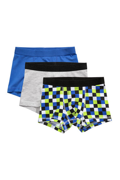 3-pack boxershorts - Blå/Rutet - BARN | H&M NO