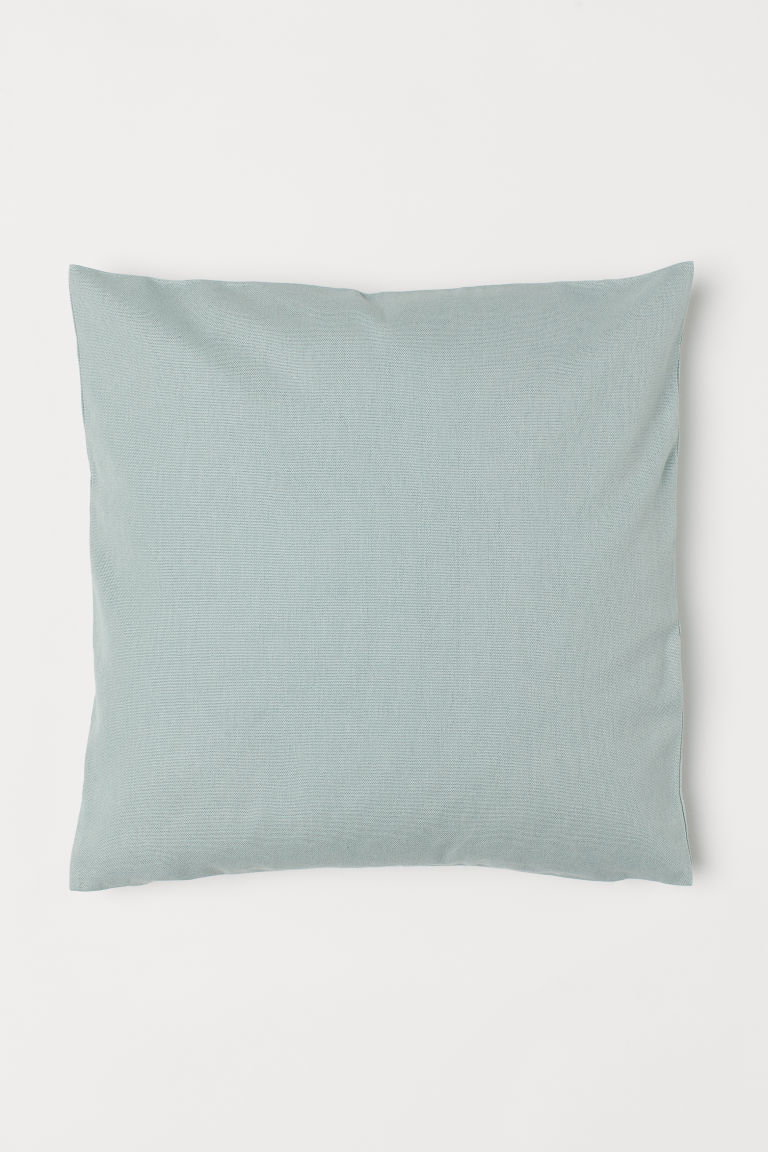 Canvas Cushion Cover - Light turquoise - Home All | H&M US