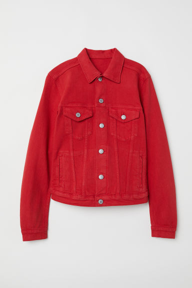 Denim jacket - Red - Ladies | H&M GB